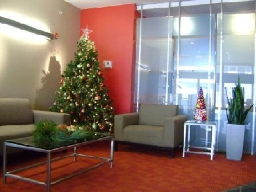 Lobby Holiday Decorations